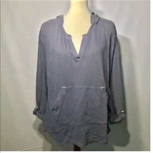 Anthropologie Saturday Sunday Blue Gray Hoodie LG